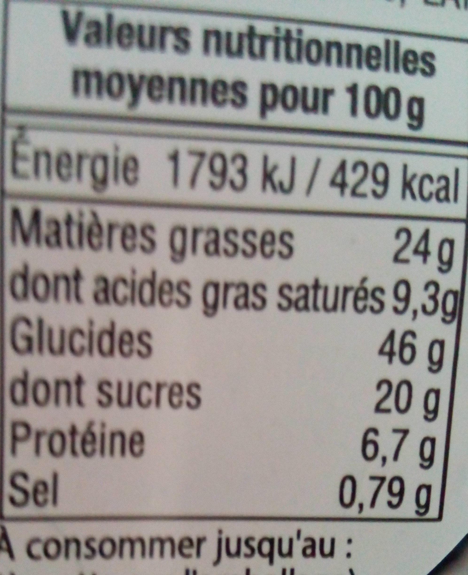 Mini beignet au chocolat blanc - Informations nutritionnelles - fr