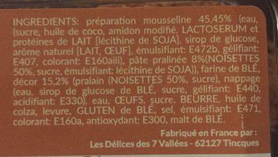 Mini tropézienne - Ingrediënten - fr