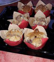 Mini muffins coeur fondant aux fruits rouges - Produit - fr