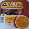 4 Muffins - assortis aux éclats de chocolat - Produit