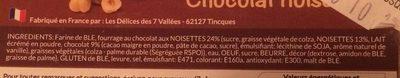Mini beignets Chocolat noisettes - Ingrediënten