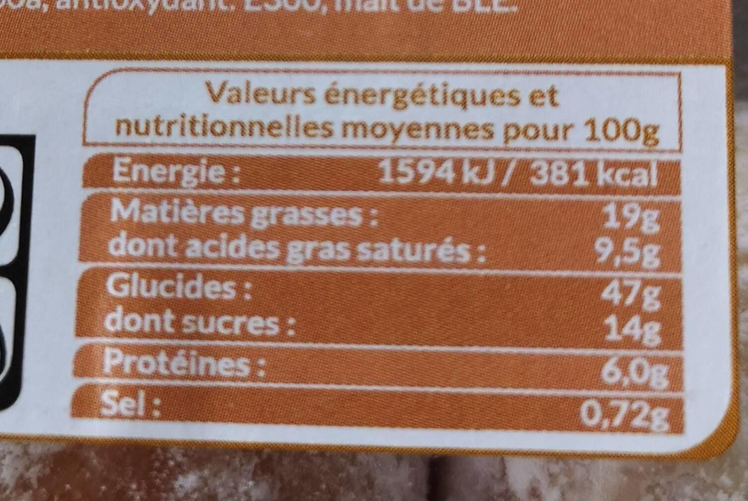 Mini beignets fourrés au caramel - Valori nutrizionali - fr