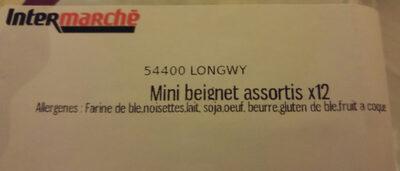 mini beignets - Ingrédients - fr