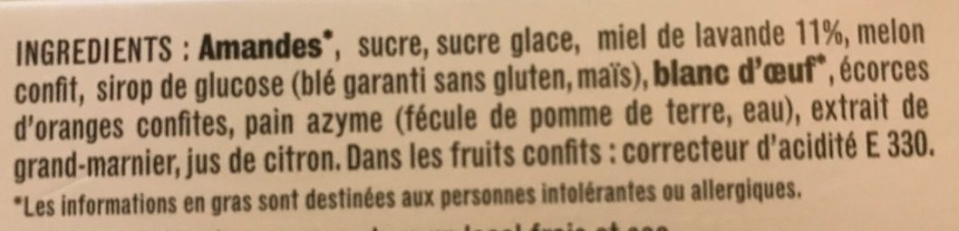 Calisson - Ingredients
