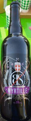 Bière blanche aromatisée Myrtille - Product - fr