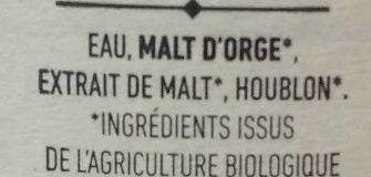 Brune - Ingrediënten - fr