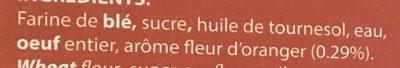 Navettes Arôme Fleur d'Oranger - Ingredients