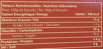 Navettes Arôme Fleur d'Oranger - Nutrition facts