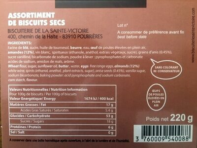 Assortiment tradition - Ingredienti - fr