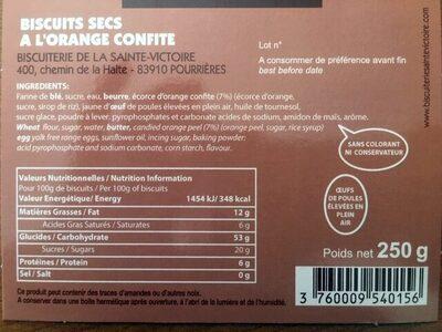 Délices à l'orange - Ingredients - fr