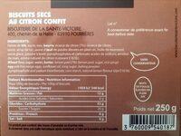 Délices au citron - Ingredients - fr