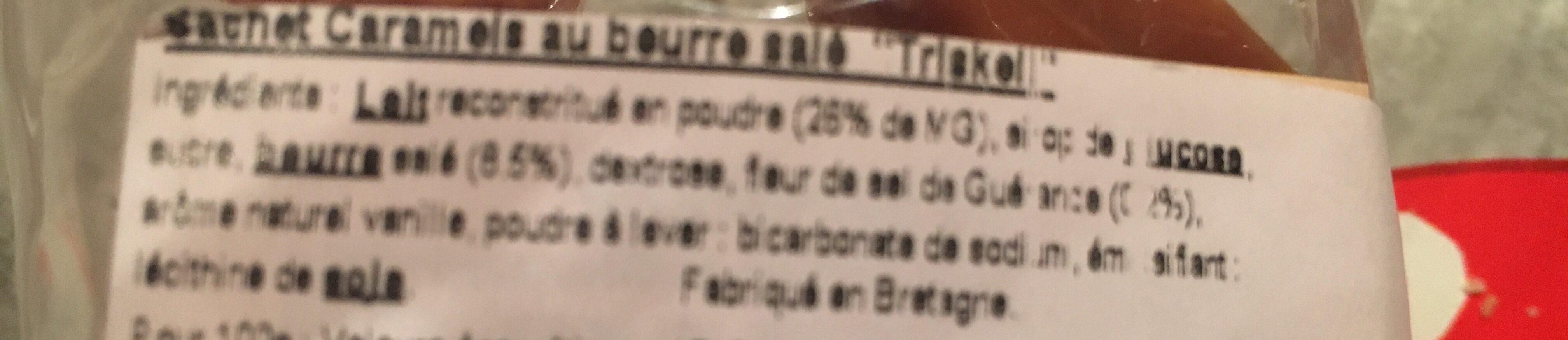 Caramels au beurre salé au sel de Guérande - Ingrediënten