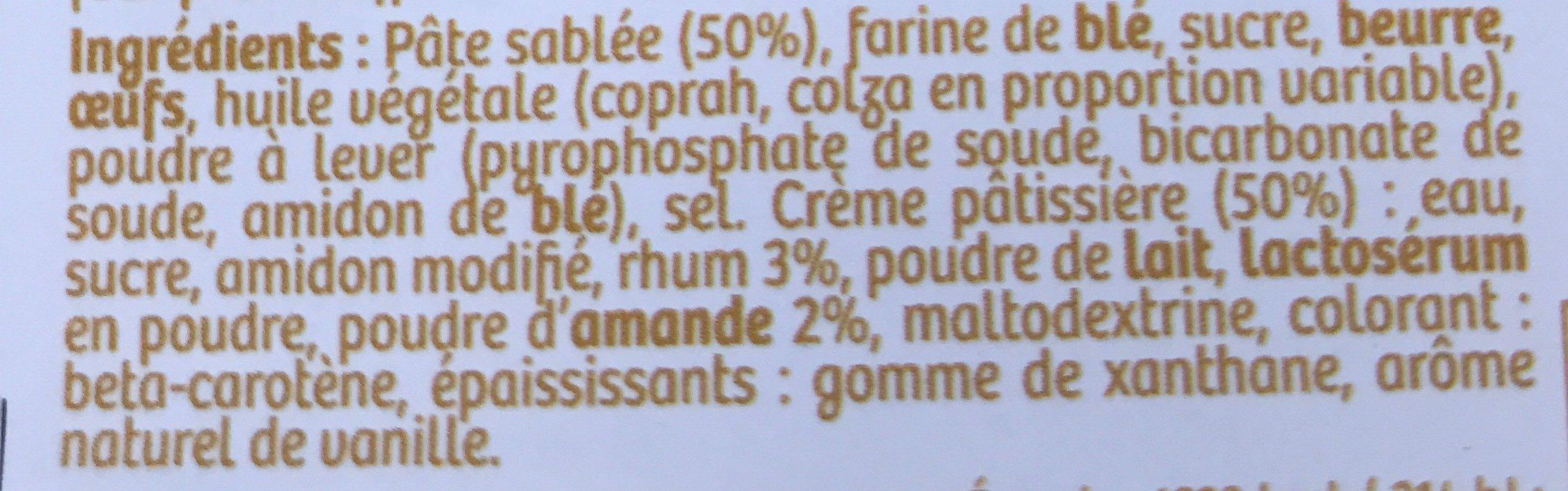 Gâteau Basque a la Crème Pâtissière - Ingrediënten