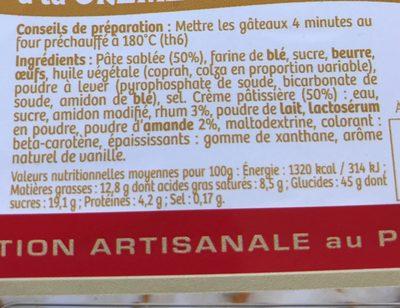 Gâteau Basque a la Crème Pâtissière - Voedigswaarden