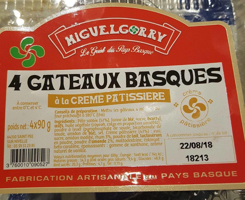 Gâteaux basques a la crème pâtissière - Produit