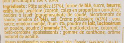 Gâteaux basques a la crème pâtissière - Ingrédients