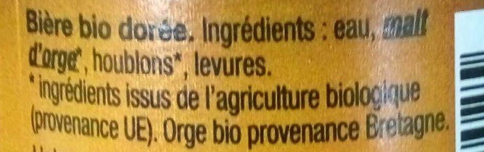 Dremmwel Dorée - Ingrédients
