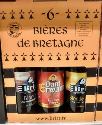 """Pack 6X33CL Biere Britt &dremm. 5.53 °"" - Product - fr"