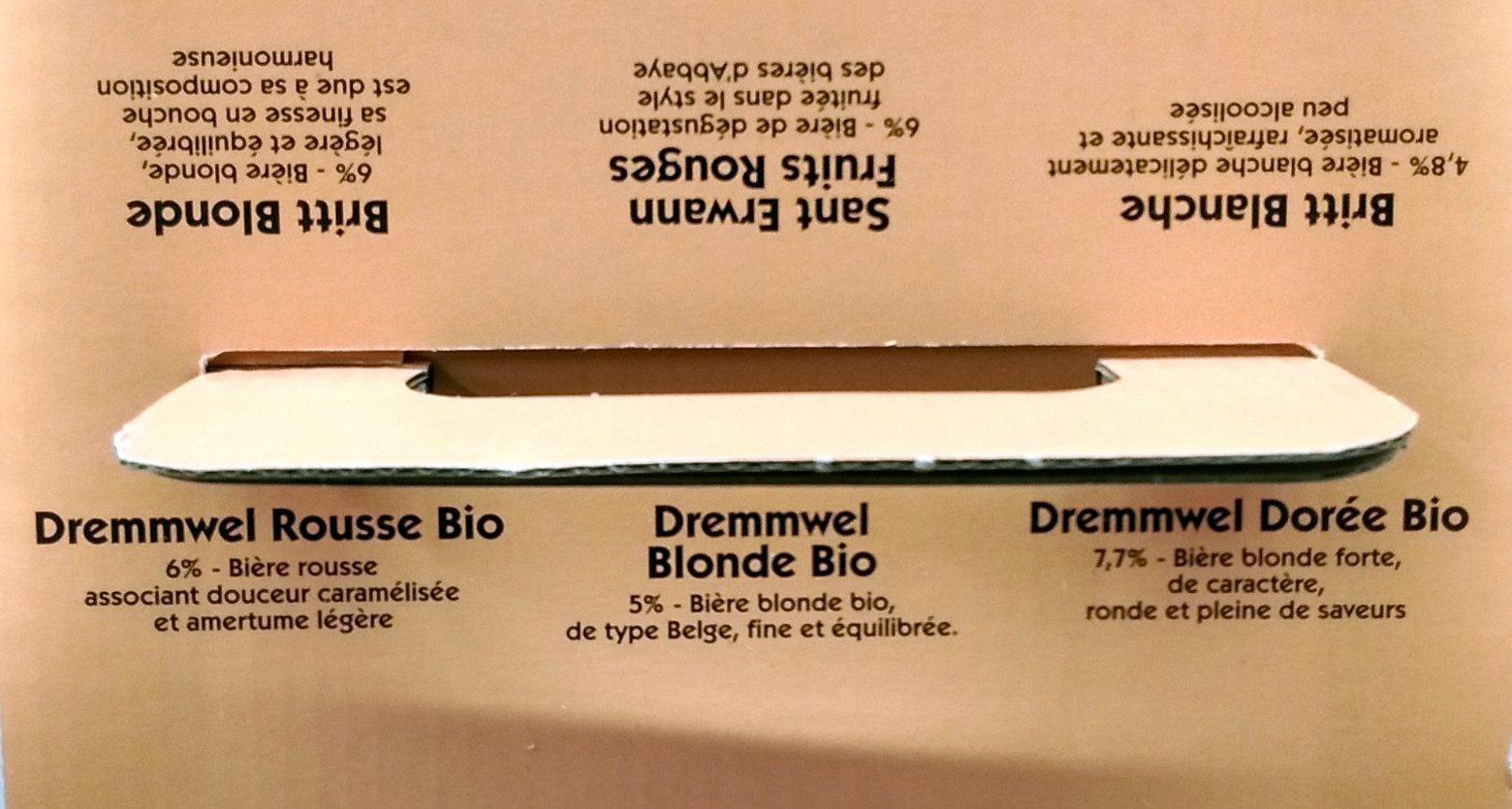 """""""Pack 6X33CL Biere Britt &dremm. 5.53 °"""" - Ingrediënten - fr"""