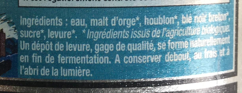 Ambrée au blé noir - Ingredienti - fr