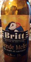 Britt Bière de Bretagne Melen au malt et sarrasin (6%) - Prodotto - fr