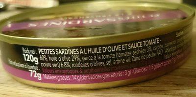 Les petites sardines à la provençale - Ingrédients - fr