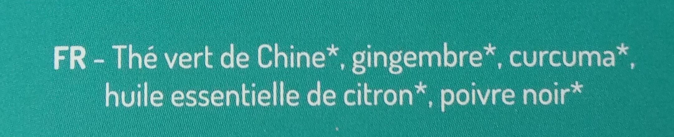 Thé vert gingembre curcuma - Ingredients - fr