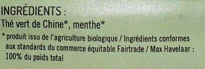 Casbah Thé vert menthe - Ingrediënten - fr