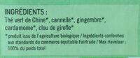 thé vert tchaï vert - Ingrédients - fr