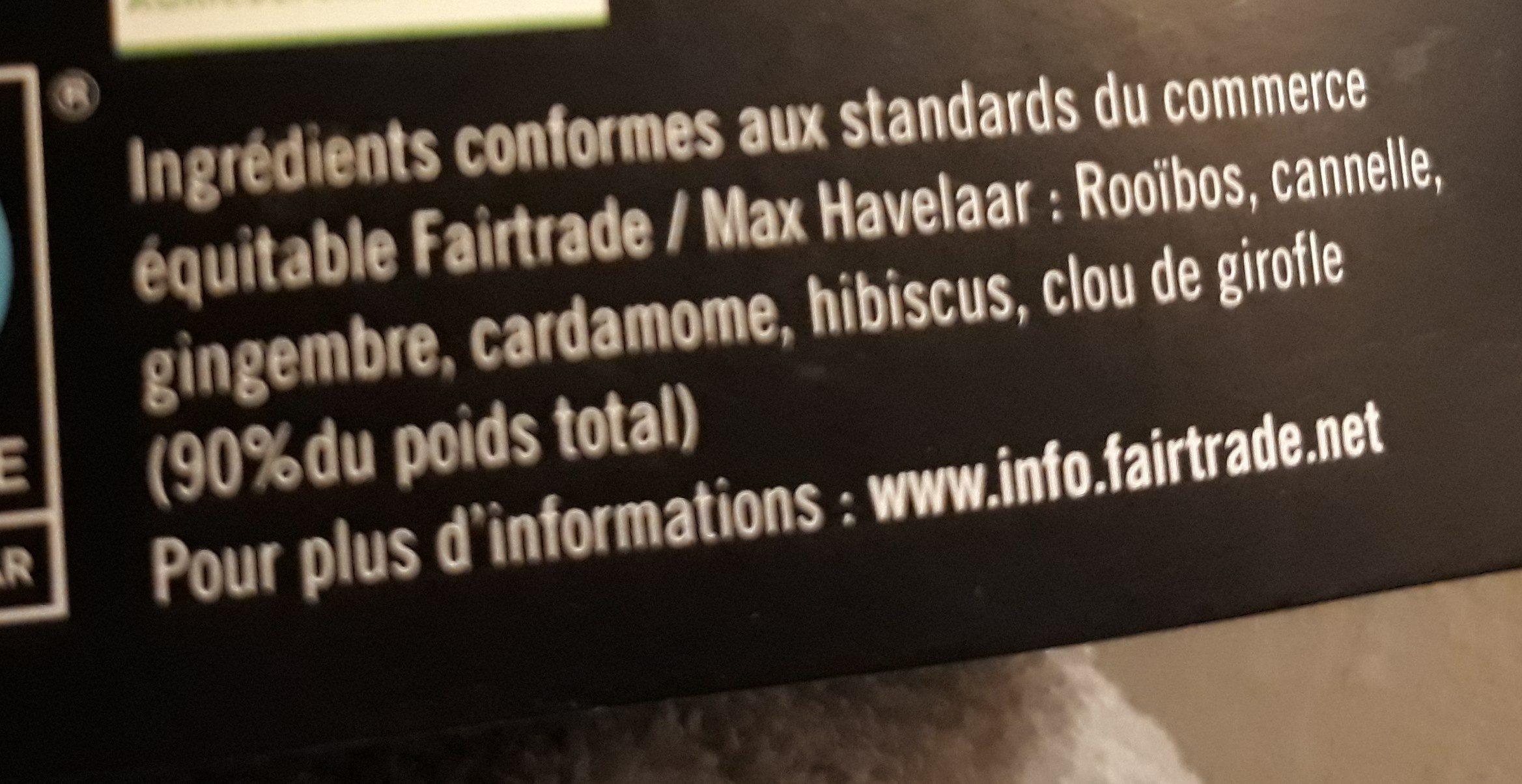 Rooibos de noel - Ingrédients - fr
