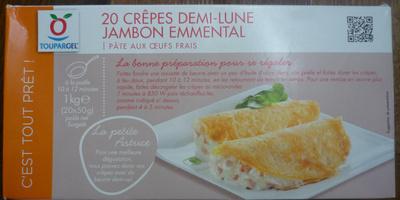 20 crêpes demi-lune jambon emmental - Product - fr