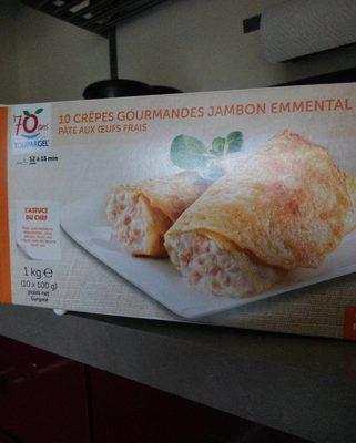 10 Crêpes Gourmandes Jambon Emmental - Voedingswaarden - fr