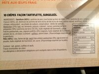 10 crêpes gourmandes tartiflette - Ingrédients - fr