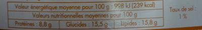10 crêpes gourmandes tartiflette - Informations nutritionnelles - fr