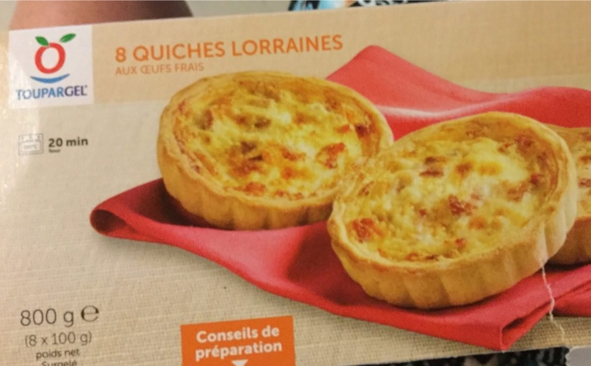8 Quiches Lorraines - Produit