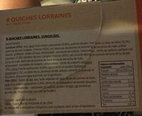 8 Quiches Lorraines - Ingredients