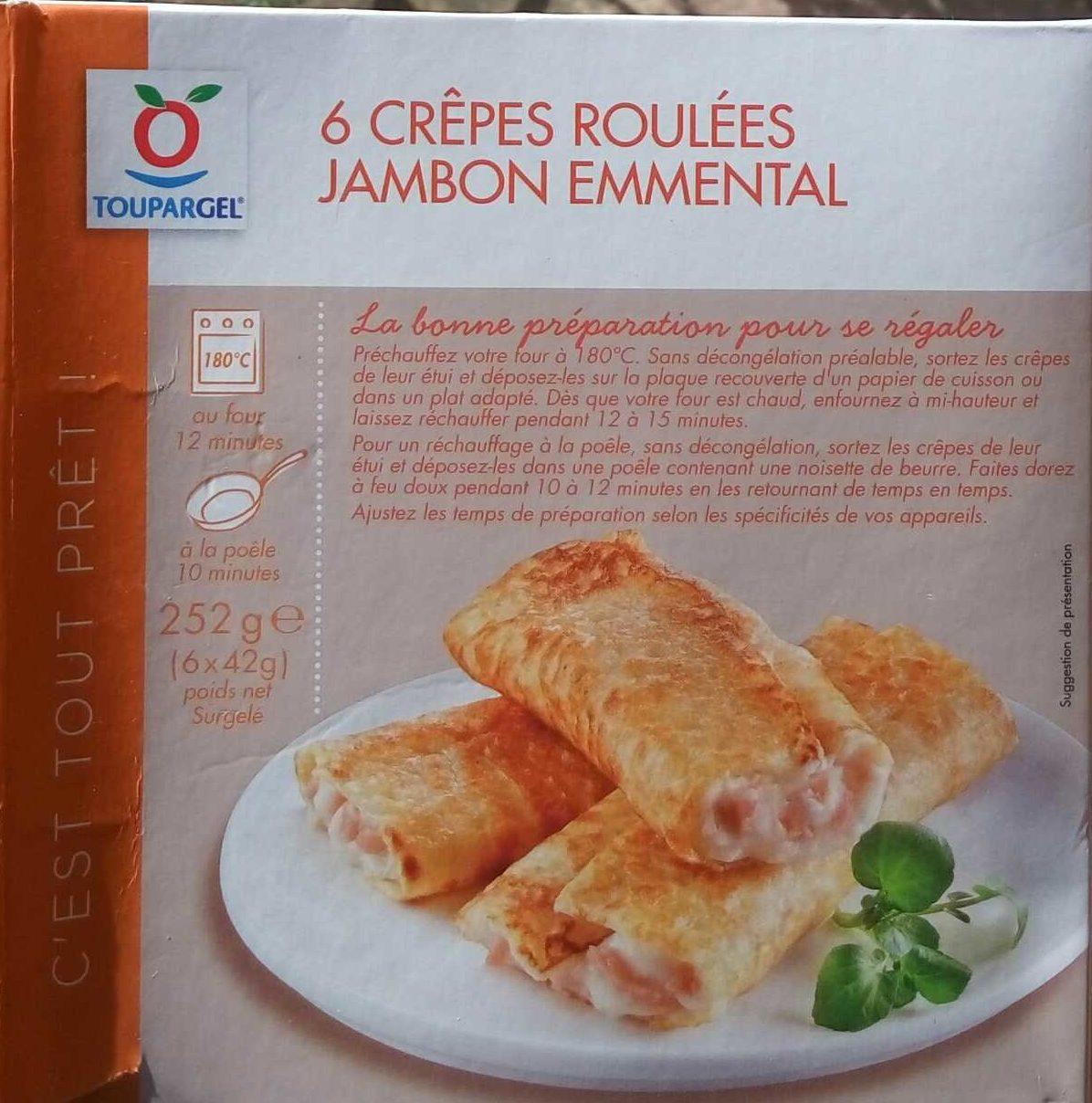 6 crêpes roulées jambon emmental - Produit - fr