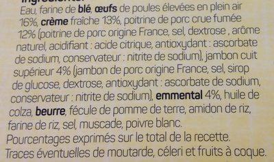 2 Quiches Lorraines - Ingrédients - fr