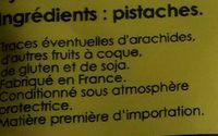 Pistaches grillées sans sel ajouté - Ingrédients