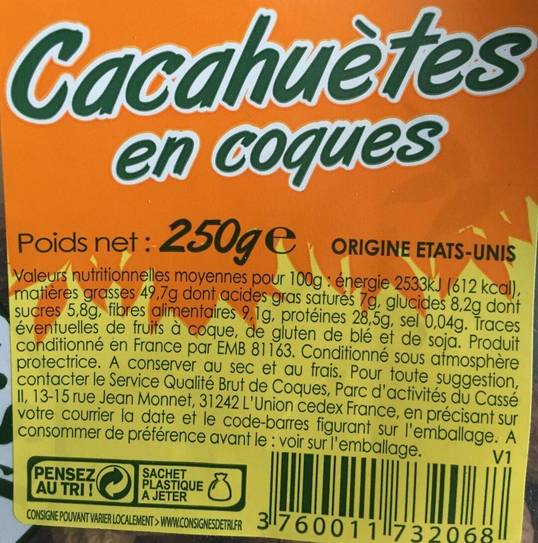 Cacahuètes en coques - Ingredients - fr