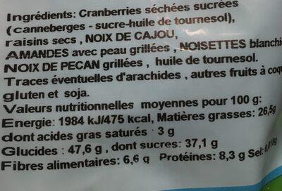 Mélange Du Monde - Ingredients - fr