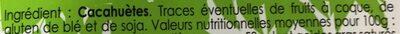 Eclats croquants cacahuètes grillées en morceaux - Ingredients - fr