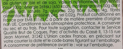 Éclats croquants cacahuètes en morceaux - Informations nutritionnelles - fr