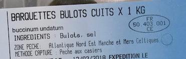 Bulots cuits - Ingredients - fr