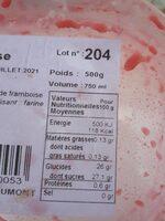Glace Artisanale - Informations nutritionnelles - fr