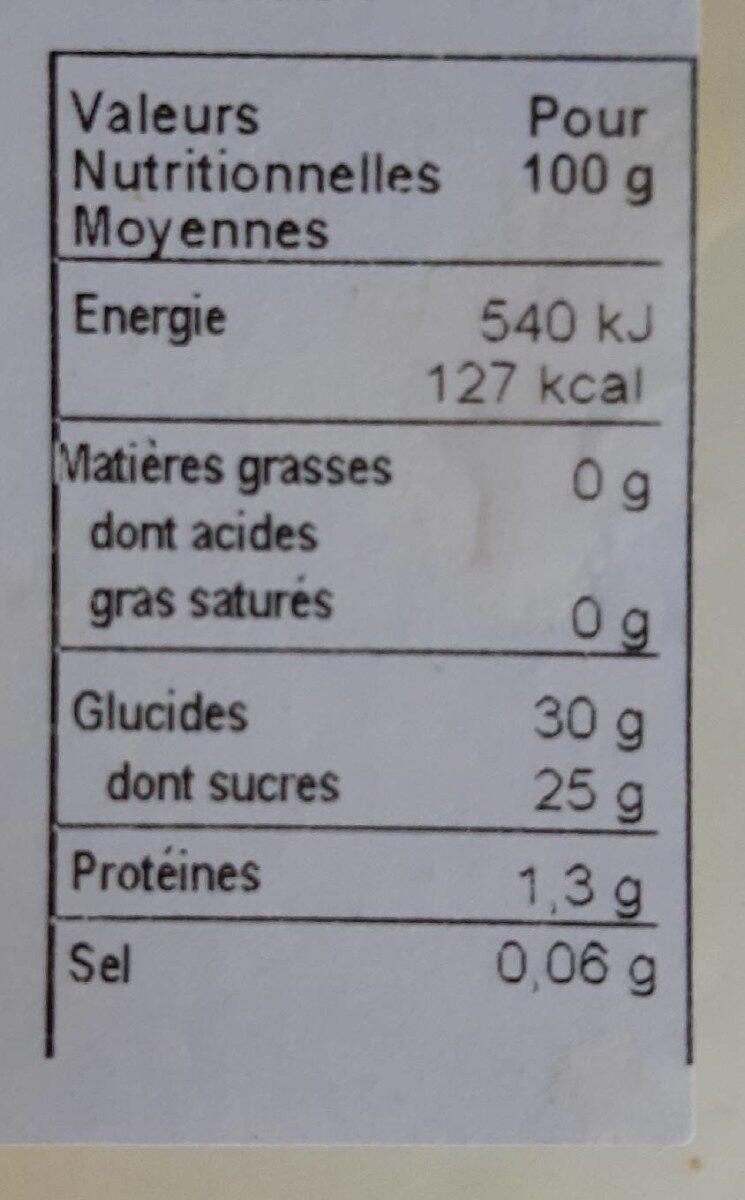 Glaces artisanales - Sorbet fruits de la passion - Valori nutrizionali - fr