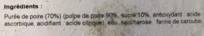 Sorbet à la poire - Ingrédients - fr