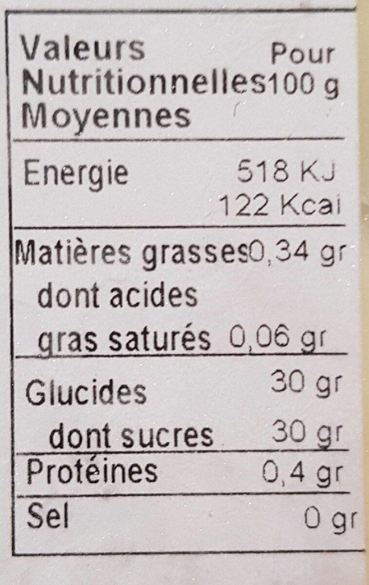 Sorbet à la poire - Informations nutritionnelles - fr