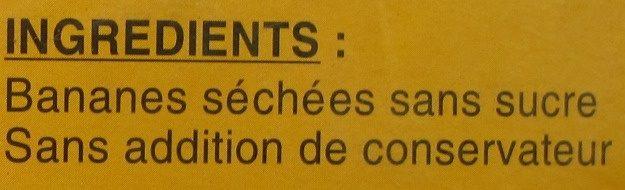 """Bananes """"Fréchinette"""" séchées - Ingrédients - fr"""