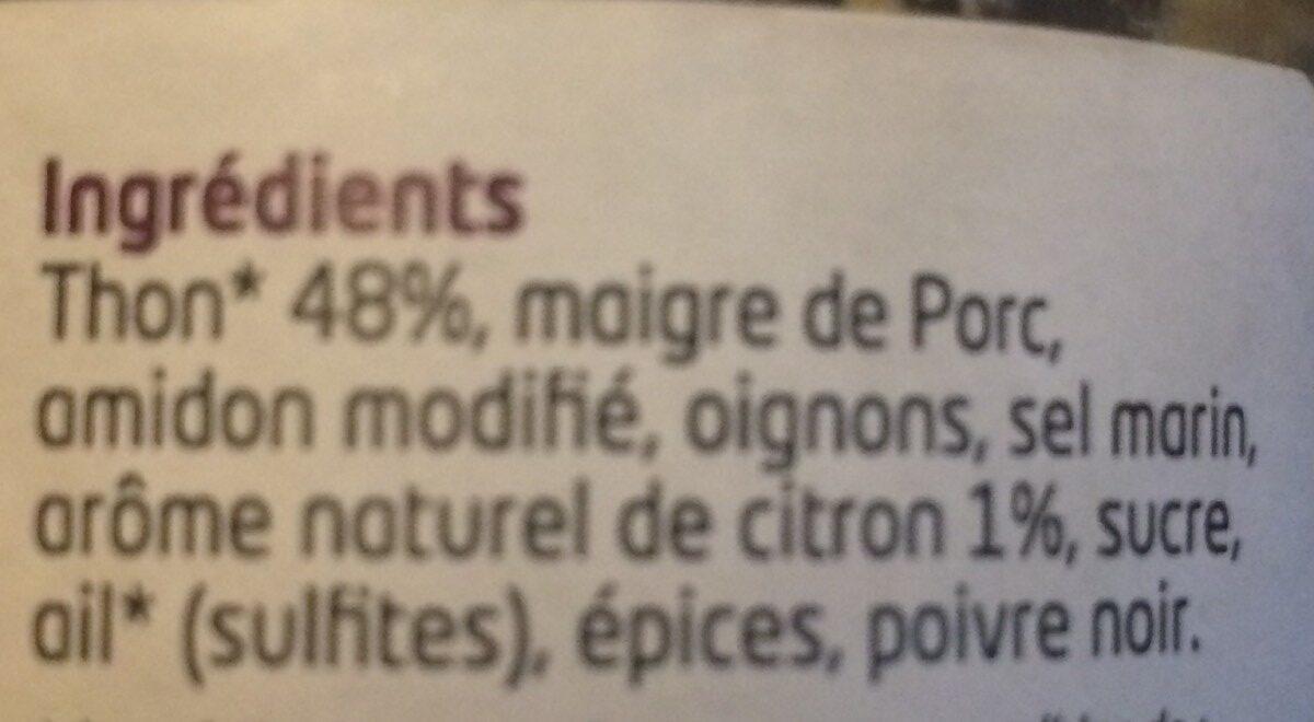 Tartinable thon au citron - Ingrédients - fr